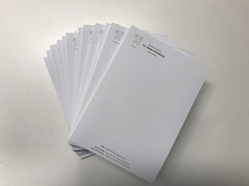 Ricettario medico, Block Notes, Blocchi appunti con logo aziendale