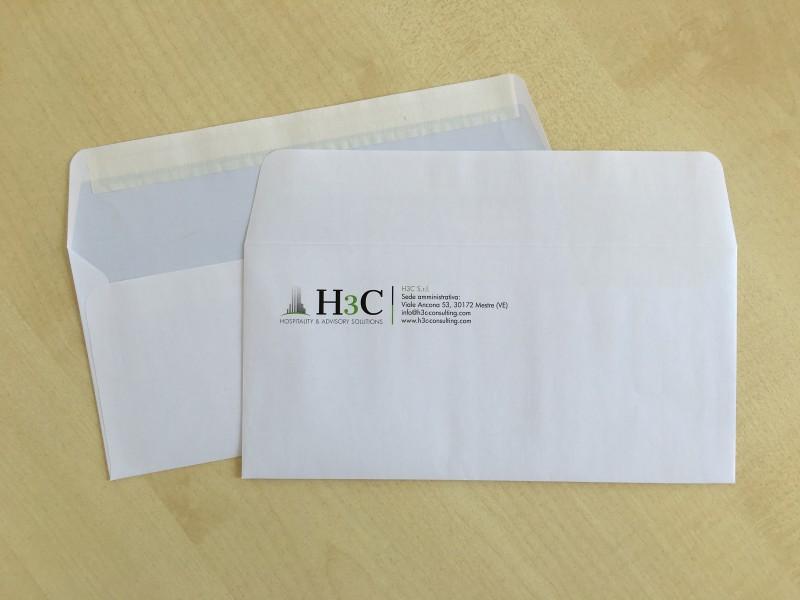 Personalizzazione e stampa  buste dimensioni 11 X 23 CM