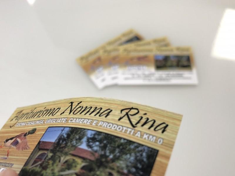 Bigliettini Agriturismo Nonna Rina