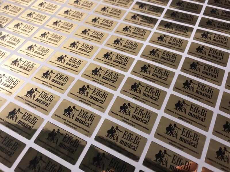Stampa etichette argento cromo