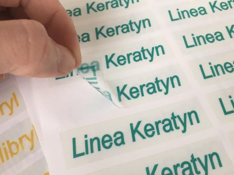 Stampa adesivi trasparenti, etichette in PVC trasparenti
