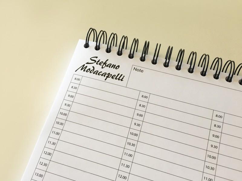 Planning giornaliero personalizzato
