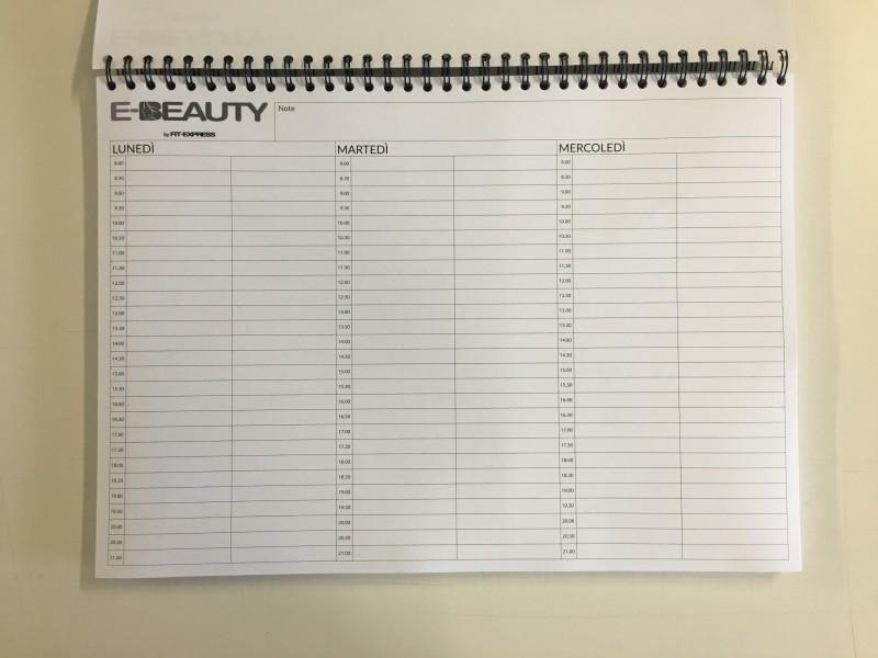 Stampa planning Milano, planning da tavolo settimanale personalizzato