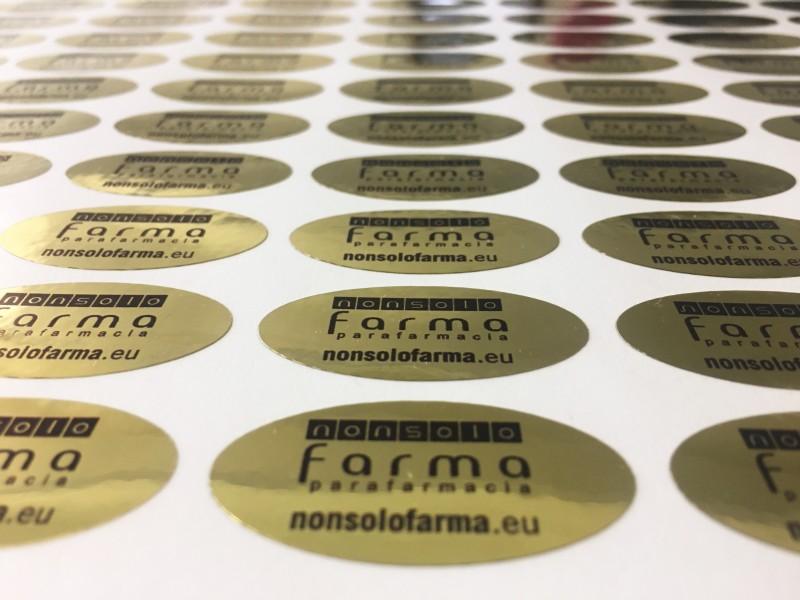 Stampa di etichette cromate oro Venezia