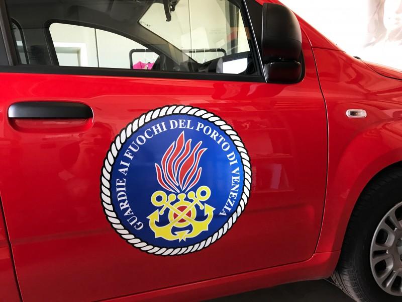 Adesivi per auto da lavoro per Guardie ai Fuochi porto di Venezia