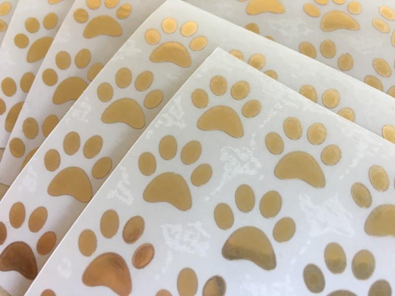 Piccoli adesivi Prespaziati Oro, Sticker