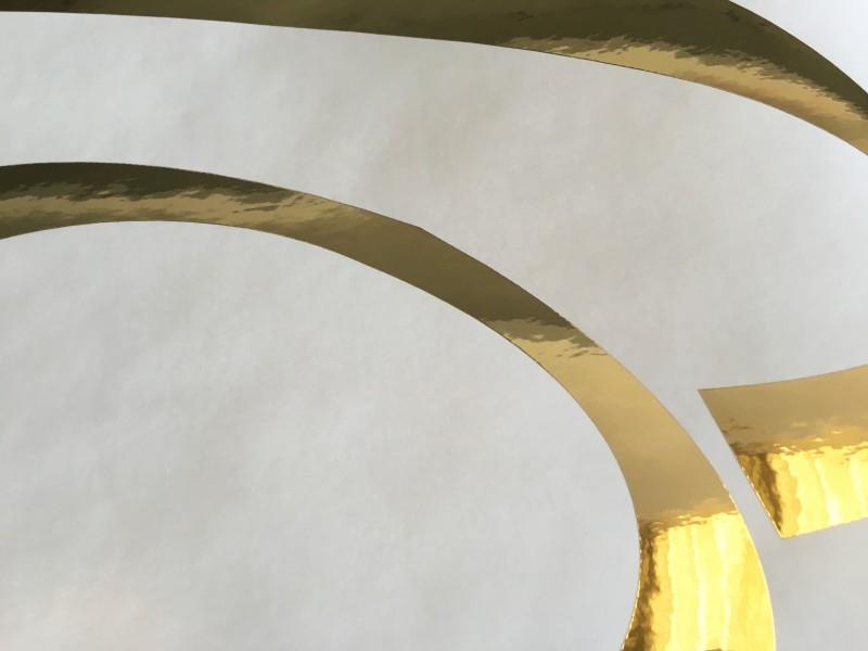 Adesivo oro prespaziato decorativo per parete, Wall Sticker Venezia centro stampa