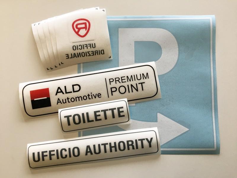 Set Adesivi Prespaziati Ufficio, Adesivi personalizzati vetrofanie