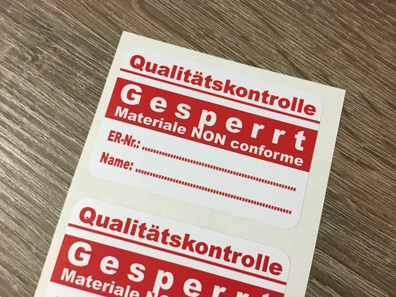 Etichette adesive monocolore
