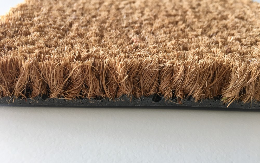 Tappeto personalizzato ad intarsio in Cocco naturale Venezia