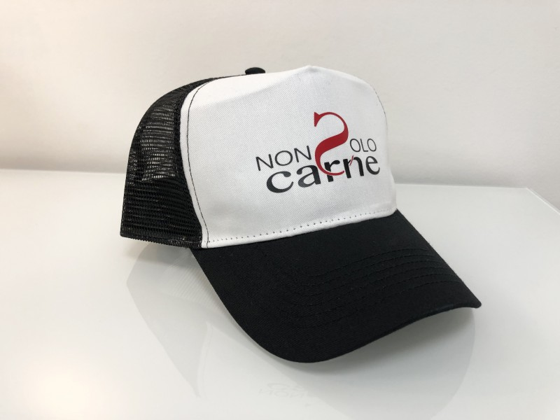 Cappellini personalizzati neri e bianchi con retina