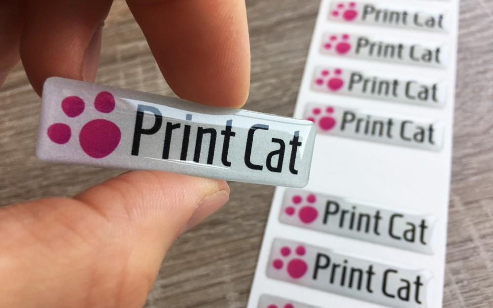 Adesivi Resinati personalizzati 3D, etichette adesive in rilievo Venezia
