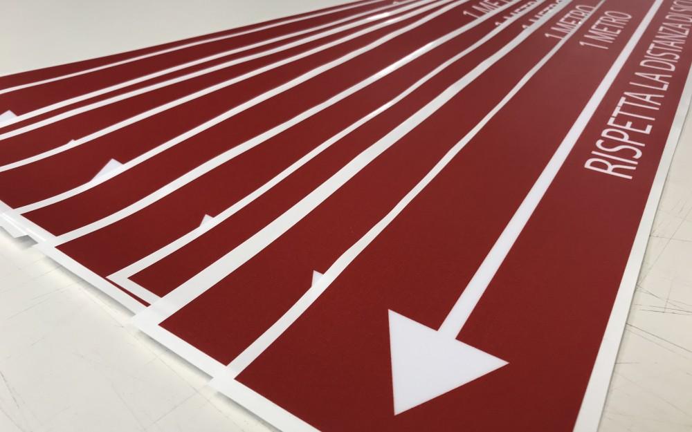 Stampa adesivi calpestabili personalizzati per qualsiasi attività