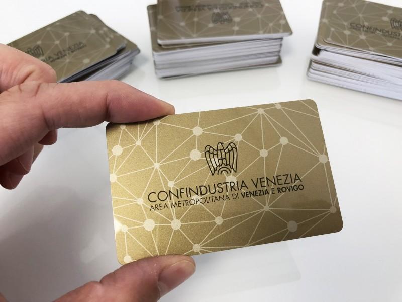 Stampa Tessere PVC Confindustria Venezia e Rovigo.