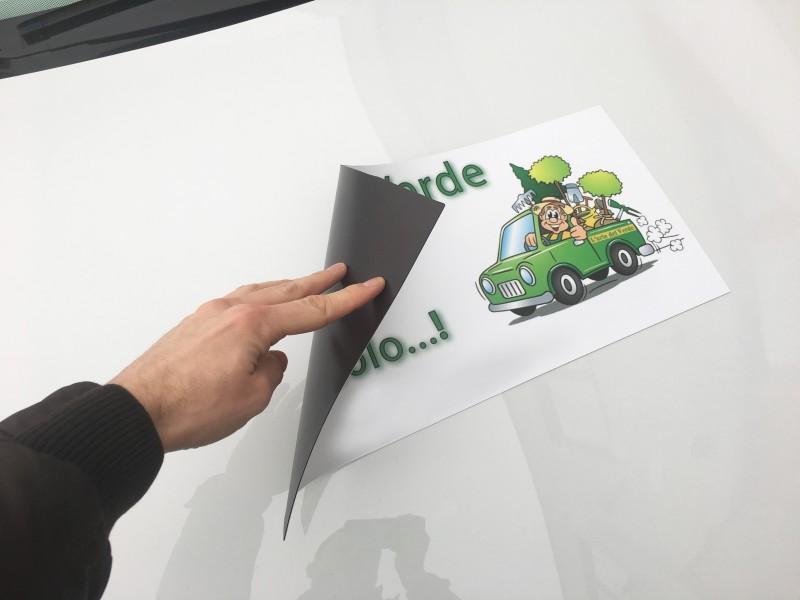 Adesivi stampati magnetici vetture, fasce magnetiche Venezia