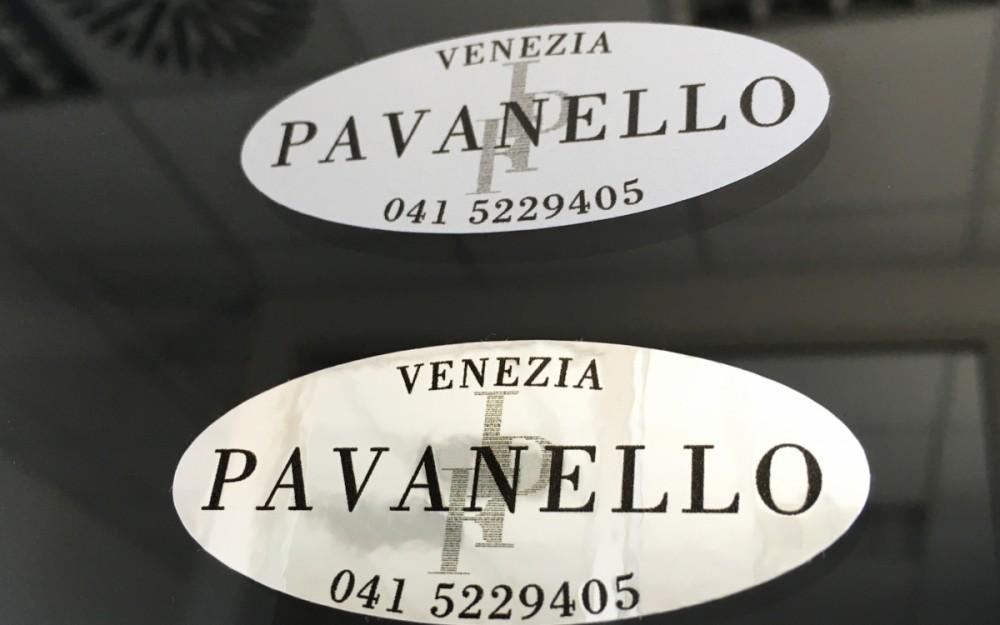 Stampa Etichette Adesive Cromate Argento e Oro
