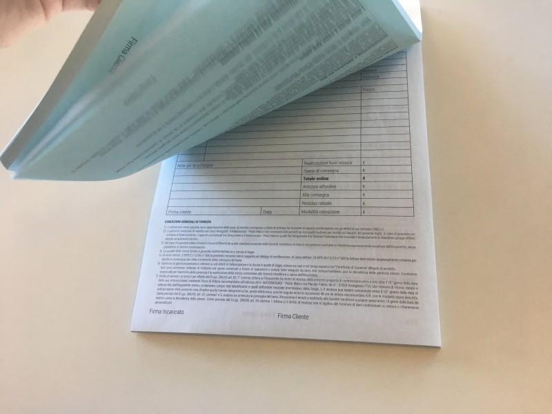 Blocco carta chimica duplice copia A4 - Stampa carta chimica Venezia