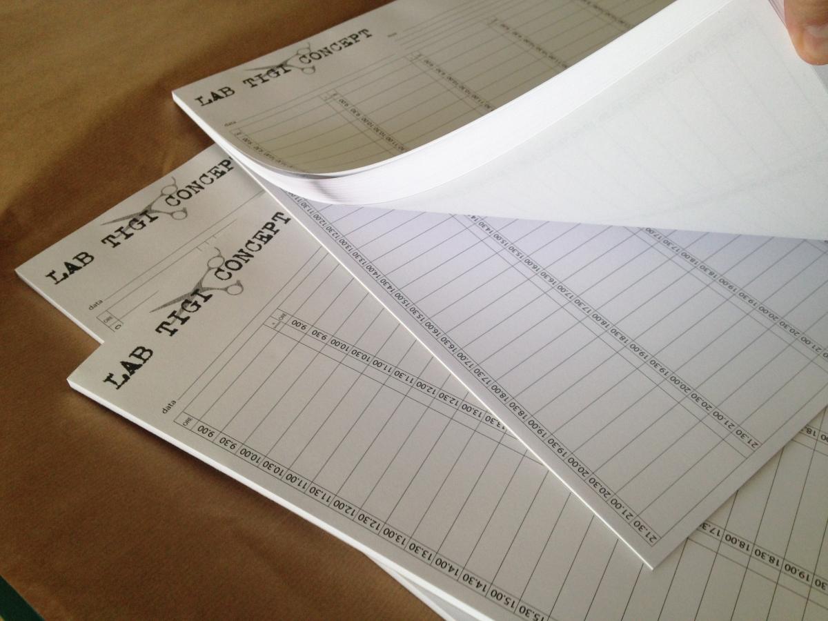 Planning da tavolo, Blocco Appuntamenti giornaliero Personalizzato
