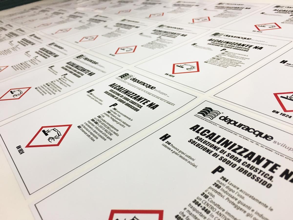 Etichette rettangolari  vinile adesivo