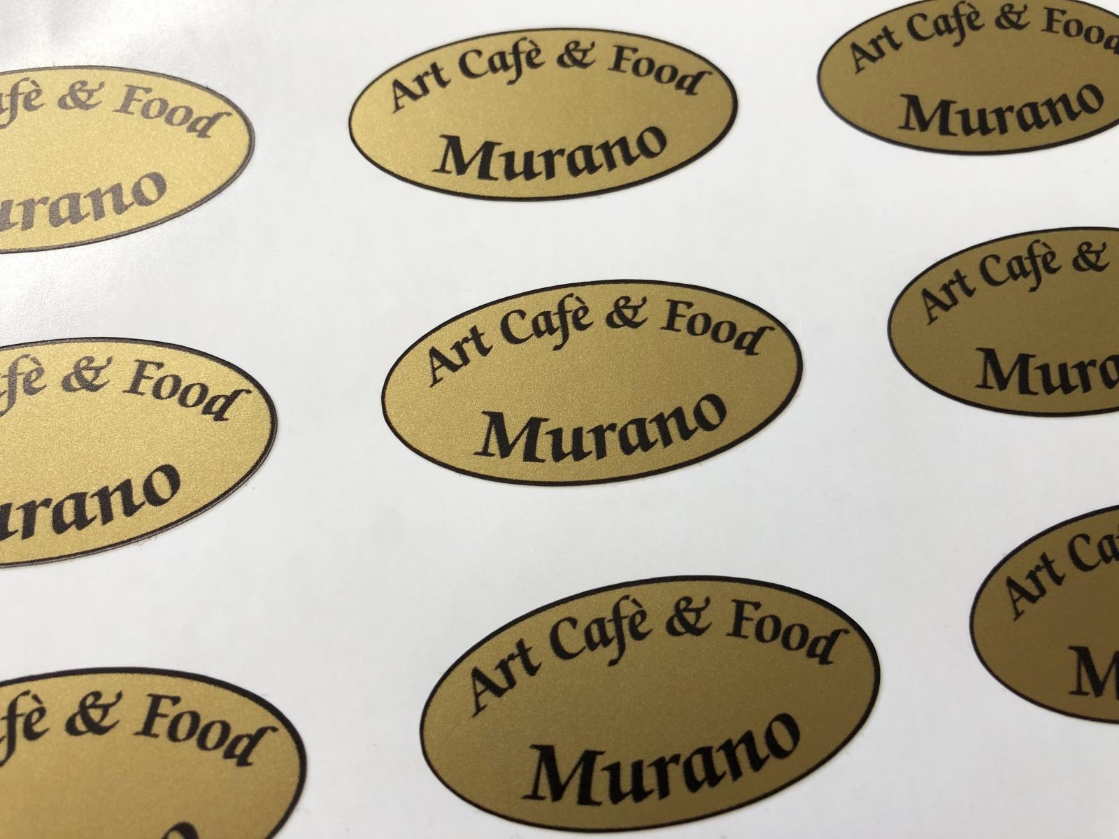 Stampa etichette adesive oro ovali