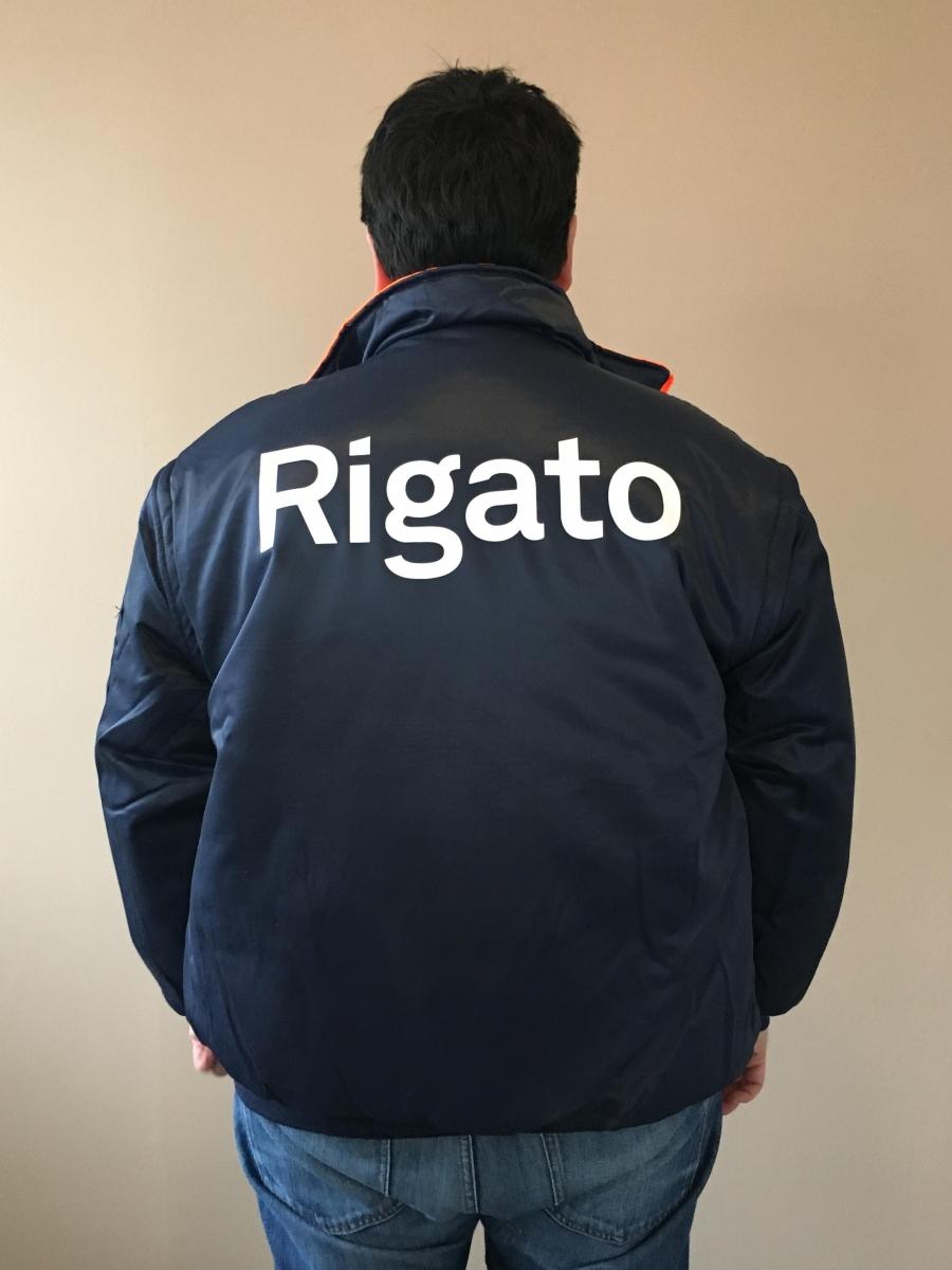 Giubbotto da lavoro con logo personalizzato, retro catarifrangente