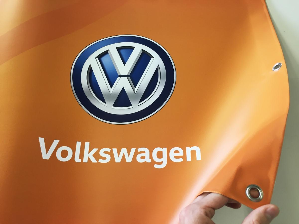 Stampa banner a Venezia per concessionaria De Bona Volkswagen