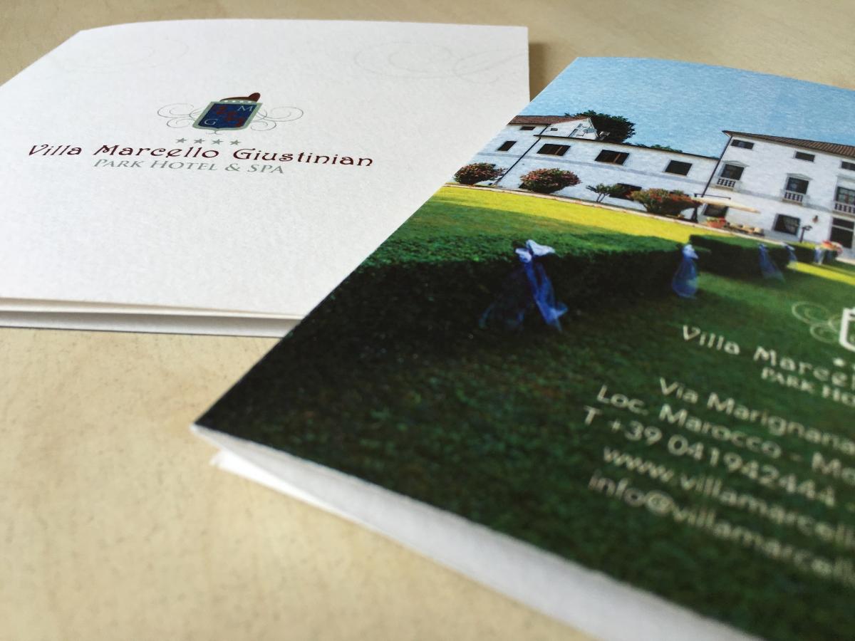 Stampa Brochure e Depliant Villa Marcello Giustinian Mogliano Ve
