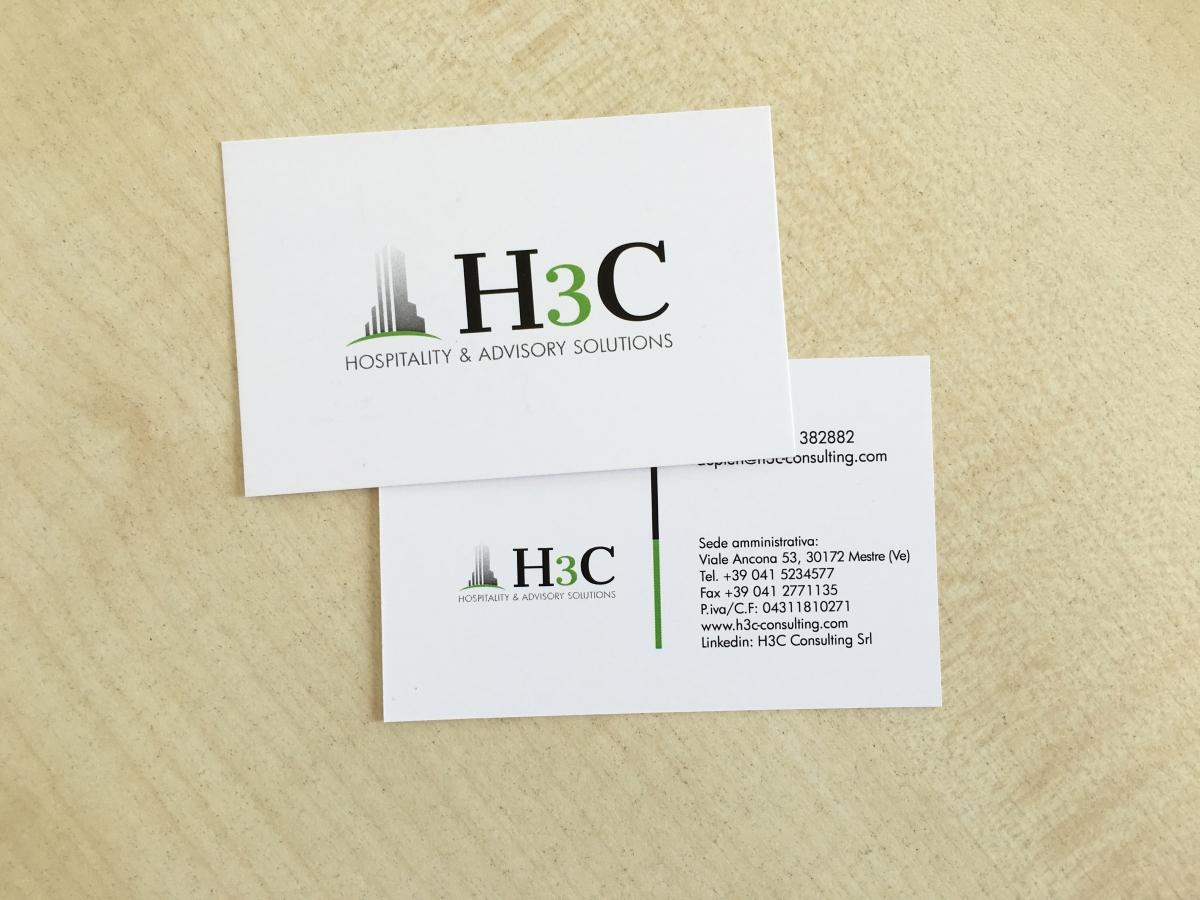 Realizzazione grafica e stampa di bigliettini H3C