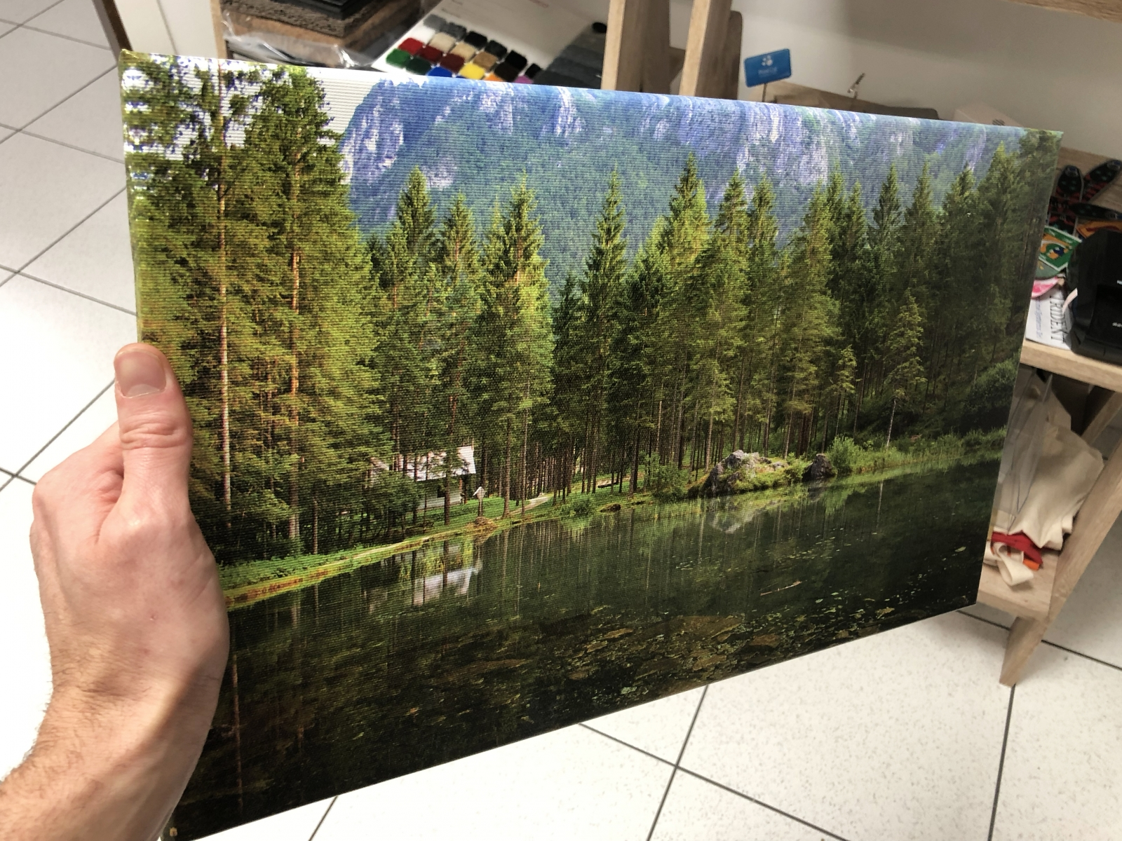 Stampa foto su tela, stampa canvas