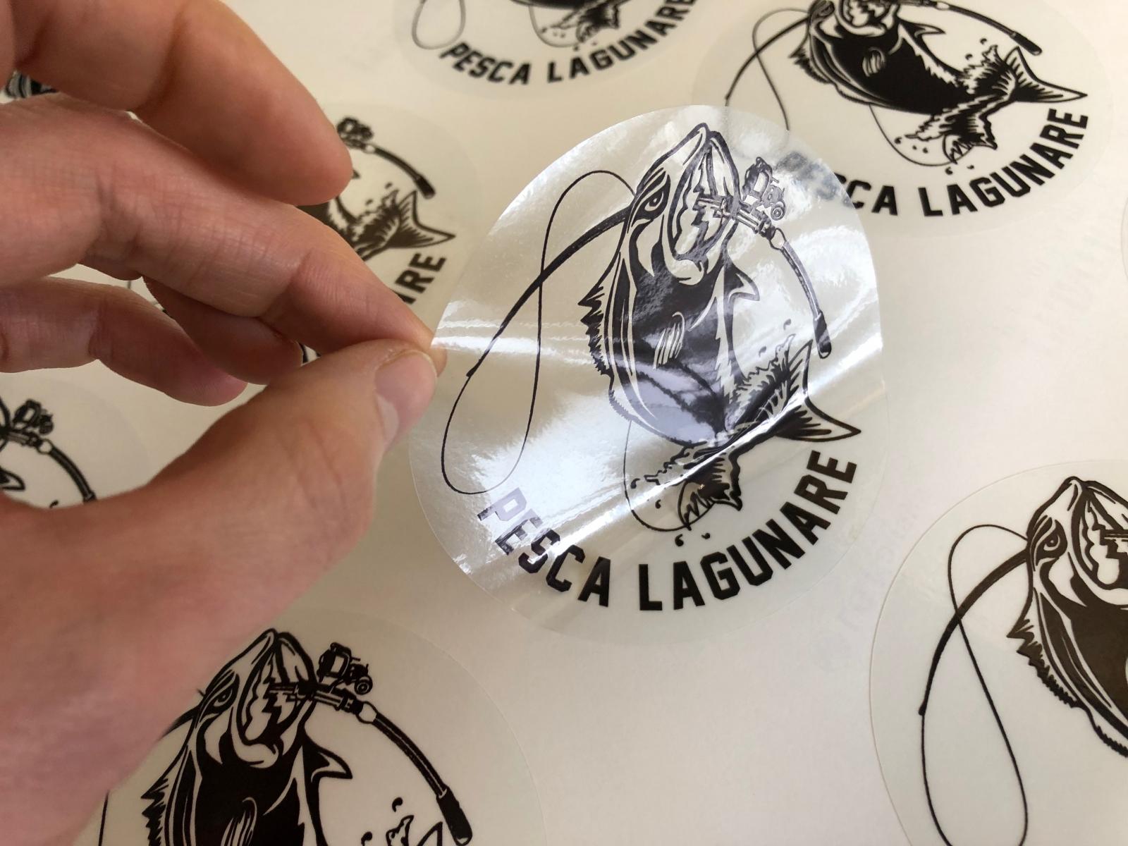Stampa etichette adesive trasparenti, adesivi trasparenti