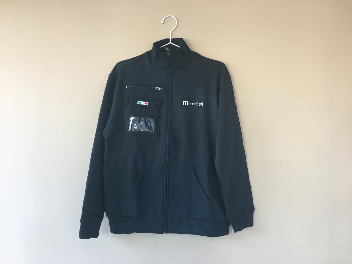 Stampa su felpa personalizzata da lavoro, giacca da lavoro con logo personalizzato