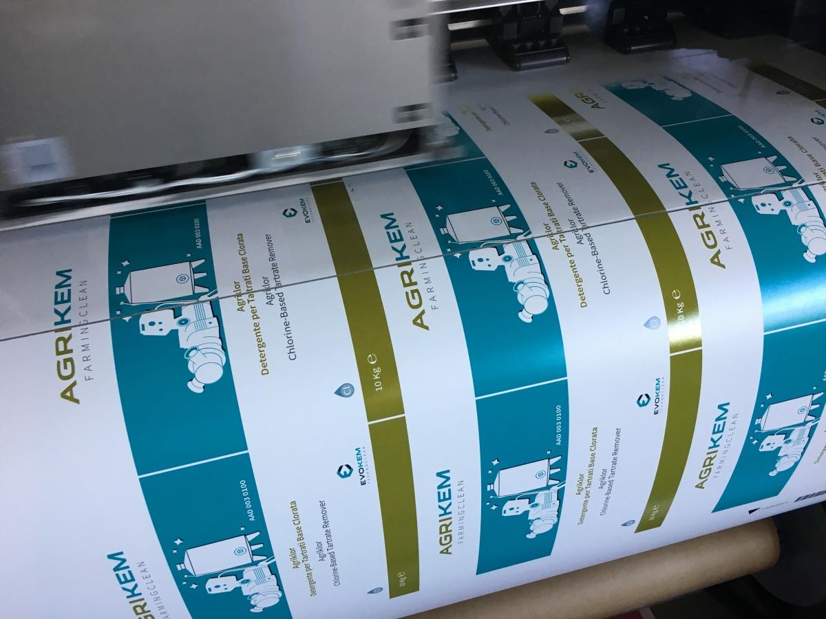 Stampa Etichette per prodotti industriali