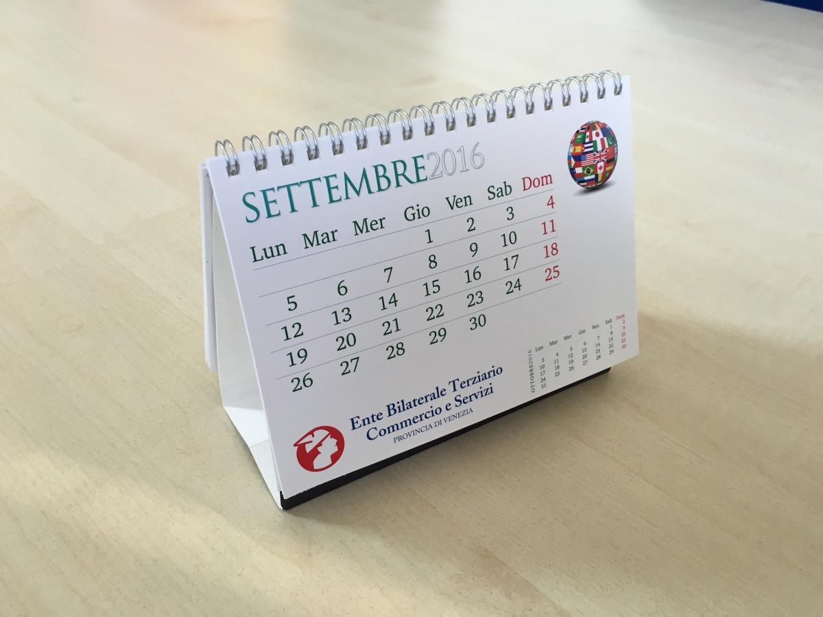 Stampa Calendario Tavolo Personalizzato Venezia per Ente Bilaterale Terziario Commercio e Servizi