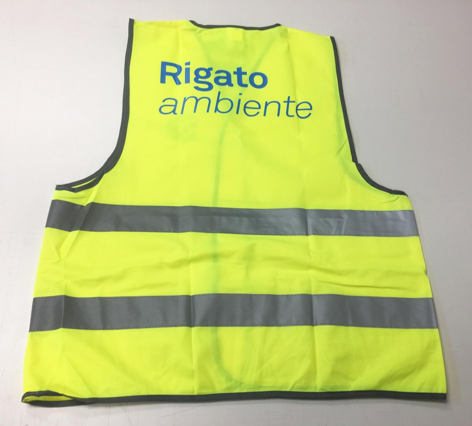 Gilet alta visibilità personalizzato, pettorina gialla catarifrangente