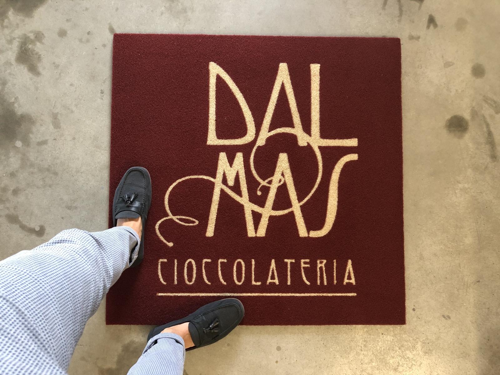 Zerbino personalizzato, tappeto intarsiato con logo