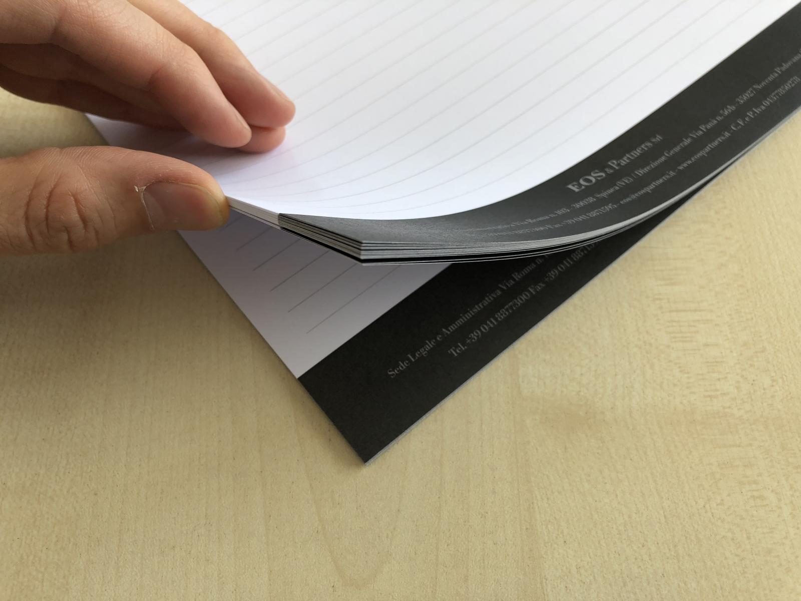 Block Notes personalizzati da 50 fogli in formato A4