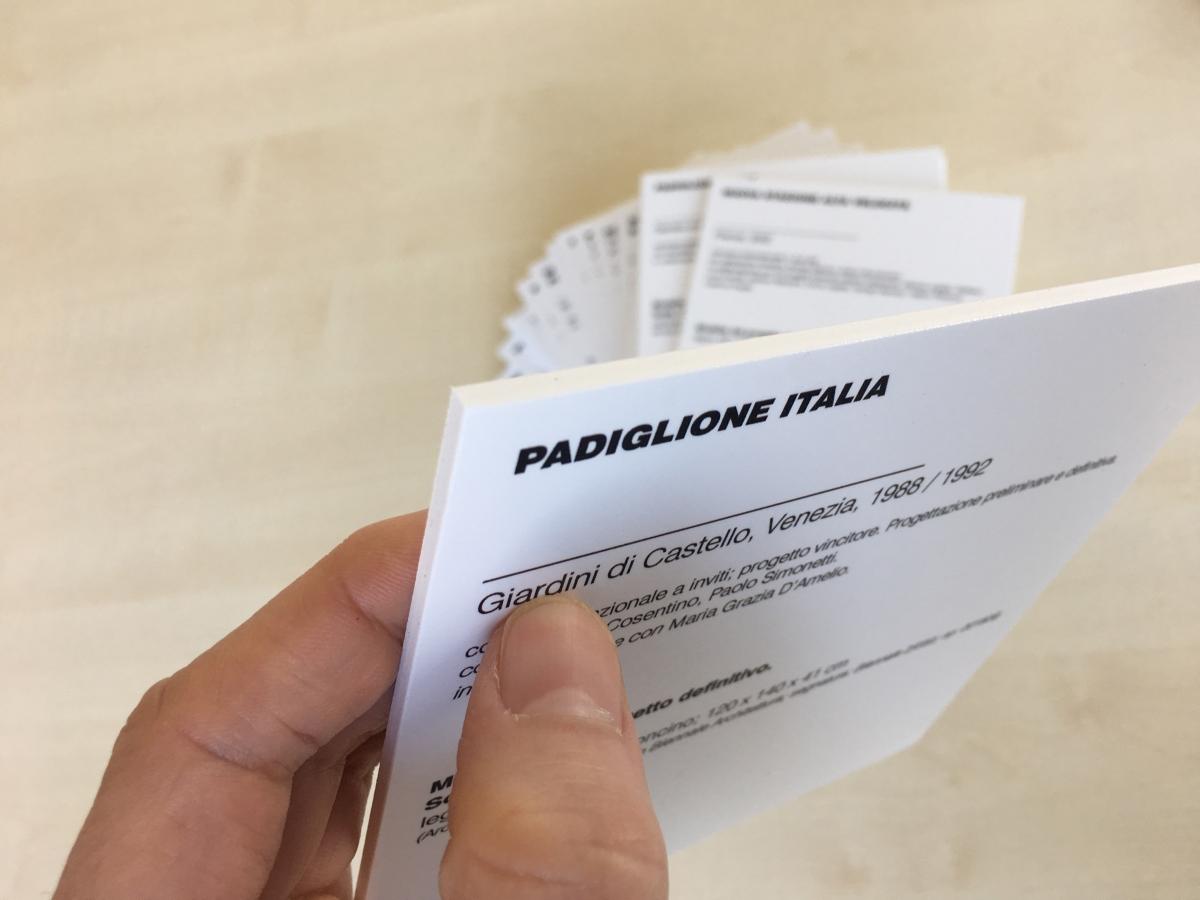 Stampa piccoli pannelli in Forex per mostra a Venezia
