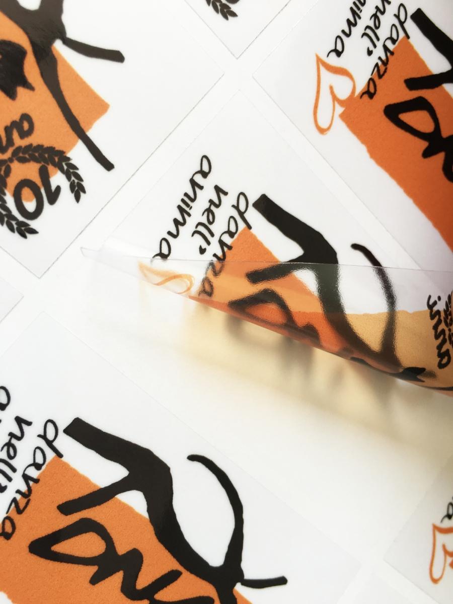 Stampa Adesivi PVC Trasparente Vinile