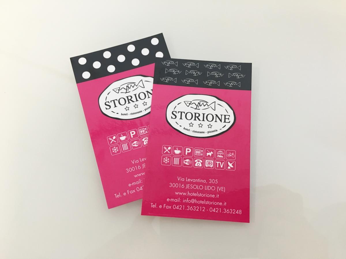 Stampa biglietti da visita Hotel Storione Jesolo Venezia